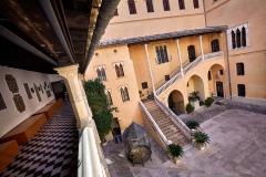 GANDIA (VALENCIA), 19/09/2017.- Patio de armas del Palau Ducal de Gandia. Sendes Urbanes de Gandia. Senda Turquesa.. FOTO: NATXO FRANCÉS