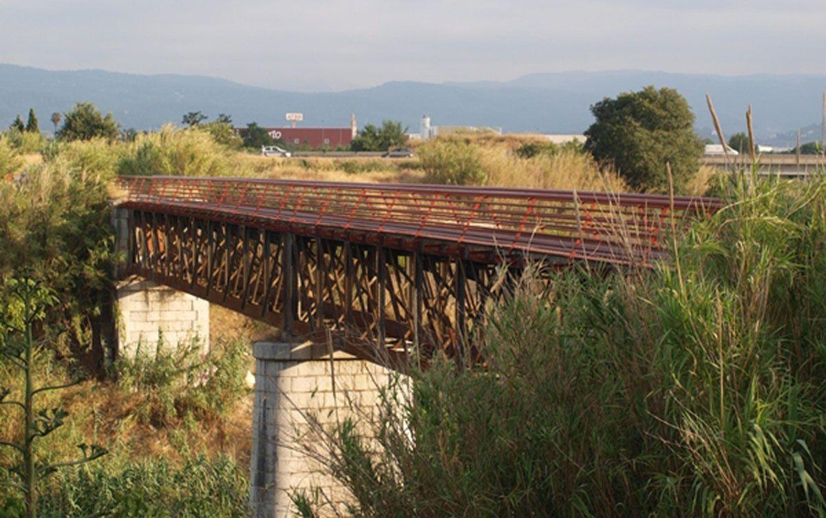 Pont de ferro de l'antiga via fèrria Gandia – Alcoi